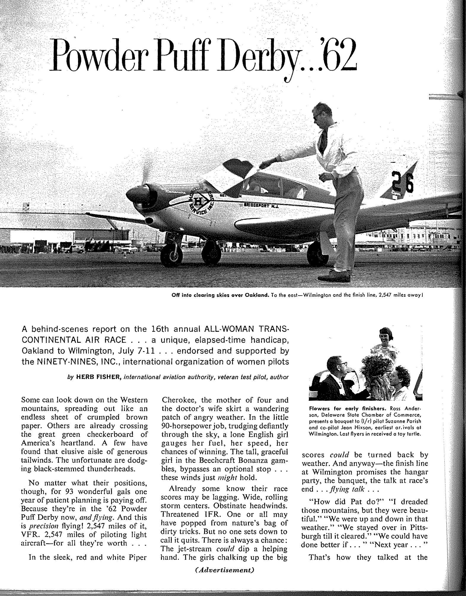 1962 Flying Magazine (Air Race Classic 3ce30dda3